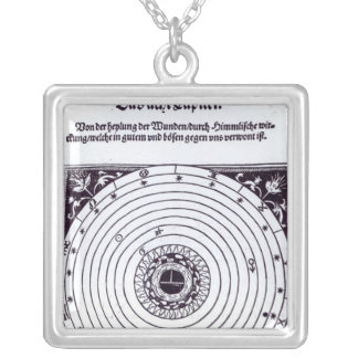 A Personal Astrological Chart Silver Plated Necklace