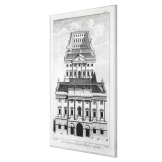 A Perspective View of the Bank of England Canvas Print