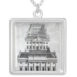 A Perspective View of the Bank of England Silver Plated Necklace