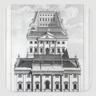 A Perspective View of the Bank of England Square Sticker