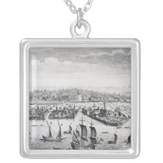 A Perspective View of the City of Venice Silver Plated Necklace
