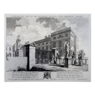 A perspective view of the Foundling Hospital Poster