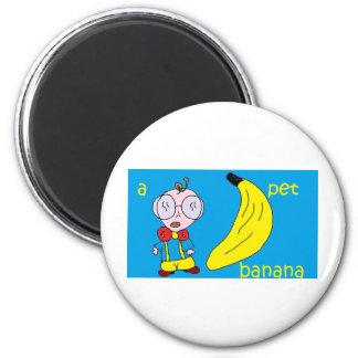 a pet banana fridge magnet