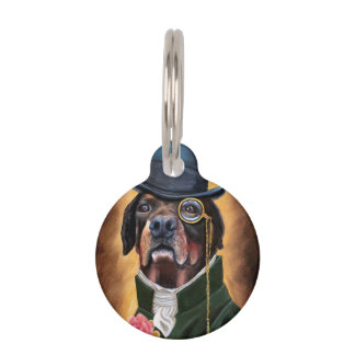 a pet ID tag