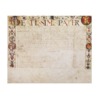 A petition from the German banking family Canvas Print
