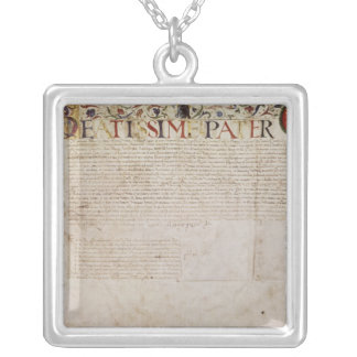 A petition from the German banking family Silver Plated Necklace