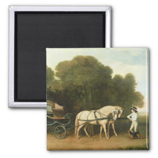 A Phaeton with a Pair of Cream Ponies in the Charg Magnet