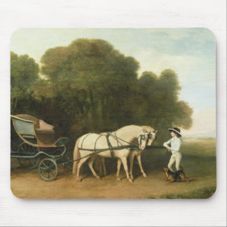 A Phaeton with a Pair of Cream Ponies in the Charg Mouse Mat