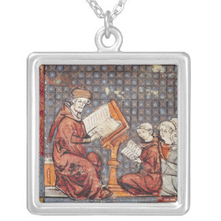 A Philosopher teaching in Paris Silver Plated Necklace