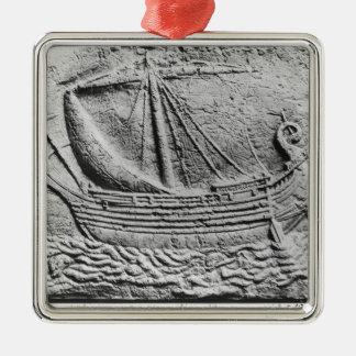 A Phoenician trade ship at Sidon Christmas Ornament