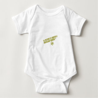 A picture is worth a thousand words. green baby bodysuit