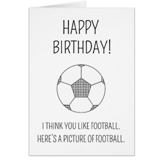 A picture of football - Birthday card