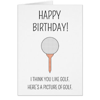 A picture of golf - birthday card