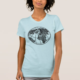 A picture of the world globe Africa Asia Europe Tee Shirt