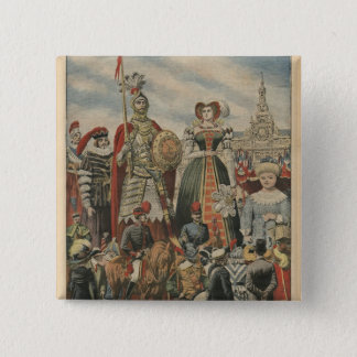 A picturesque and traditional feast 15 cm square badge