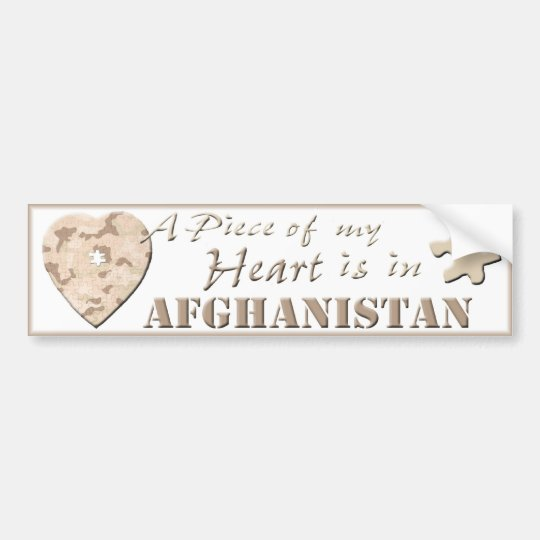 A Piece of My Heart Is In Afghanistan Bumper Stick Bumper Sticker