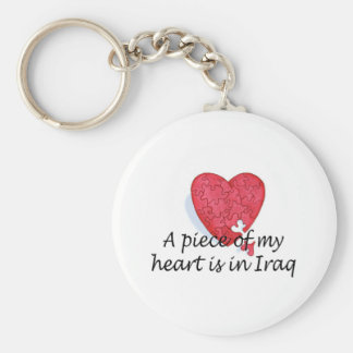 A Piece Of My Heart Is In Iraq Key Ring