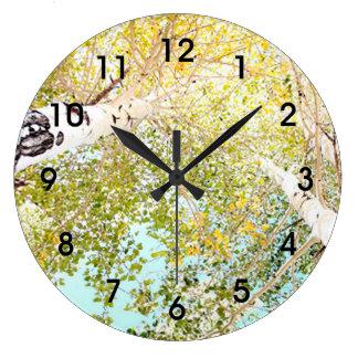 A piece of the sky large clock