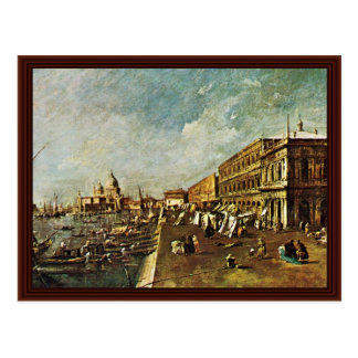 A Pier In Venice With The Bookstore Facing Chiesa Postcard
