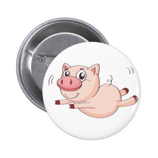 a pig 6 cm round badge
