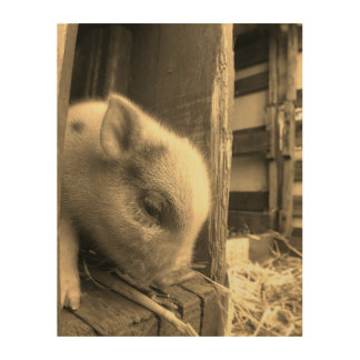 A Piglet Story: Too Cute for Words Wood Print