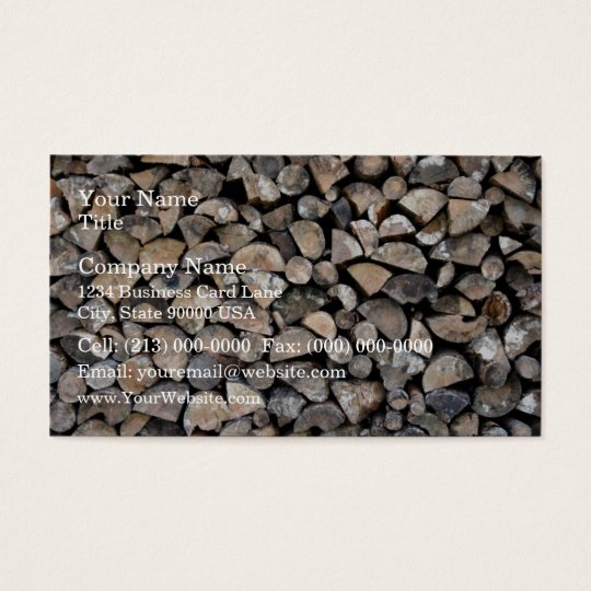 A pile of firewood business card