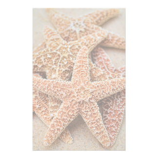 A Pile of Large Sugar Starfish Personalized Stationery