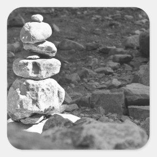 A pile of Rocks Square Sticker