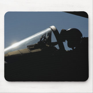 A pilot prepares for take-off mouse mat