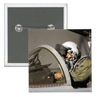 A pilot prepares his F-15A Eagle 15 Cm Square Badge