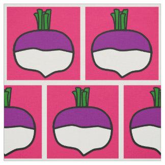 A pink brick wall of turnips