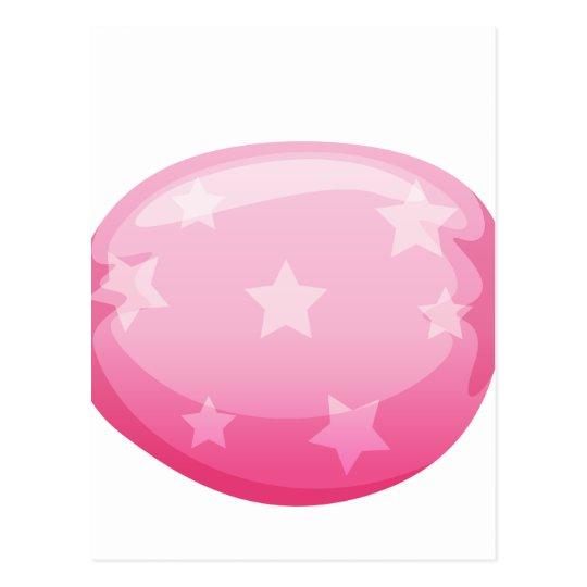 a pink candy postcard