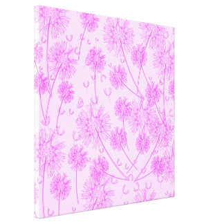 A Pink Dandelion Stretched Canvas Print