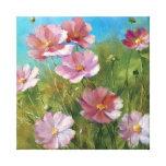 A Pink Floral Garden Gallery Wrap Canvas