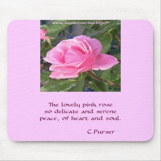 A Pink Rose Mousepads