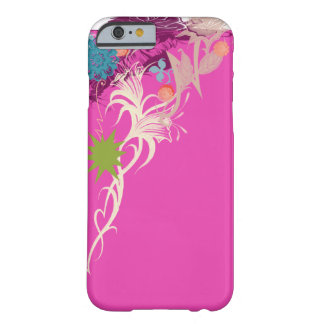 A Pink Sassy Floral Design Barely There iPhone 6 Case