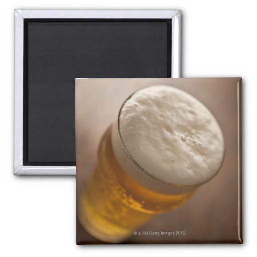 A pint of lager, back lir shallow focus rustic magnets