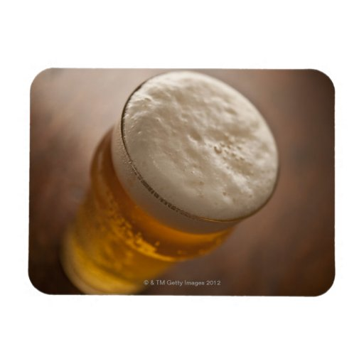A pint of lager, back lir shallow focus rustic rectangle magnet