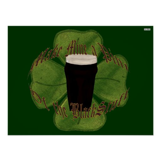 A Pint of the Black Stuff Poster