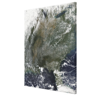 A pinwheel-like pattern of high pressure clouds canvas print