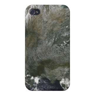A pinwheel-like pattern of high pressure clouds case for the iPhone 4
