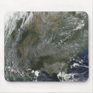 A pinwheel-like pattern of high pressure clouds mouse mat