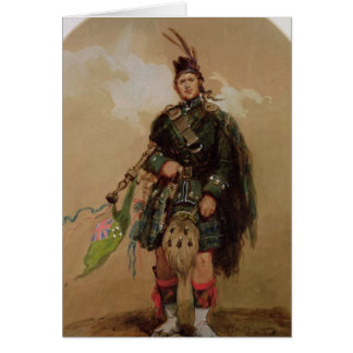 A Piper of the 79th Highlanders at Chobham Card