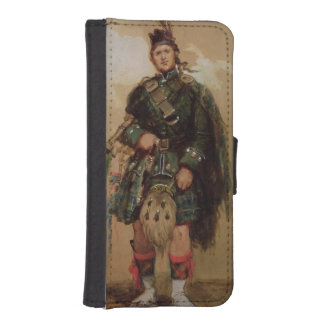 A Piper of the 79th Highlanders at Chobham Phone Wallet