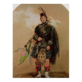 A Piper of the 79th Highlanders at Chobham Postcard
