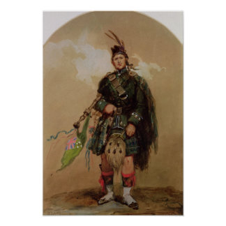 A Piper of the 79th Highlanders at Chobham Poster