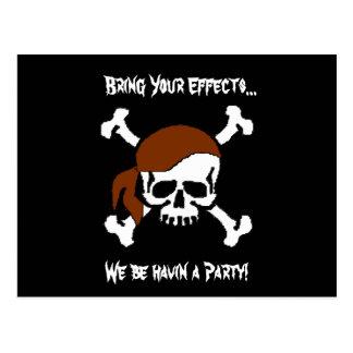 A Pirate Party Postcard