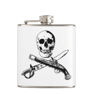 A Pirates Life skullflask_1 Hip Flask