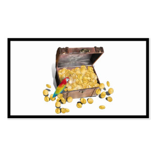 A Pirates Treasure Chest (Add Background Color) Pack Of Standard Business Cards