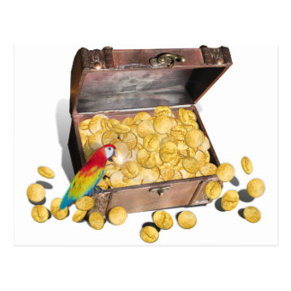 A Pirate's Treasure Chest Postcard